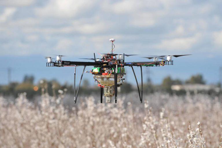 Drones para la polinización de frutales